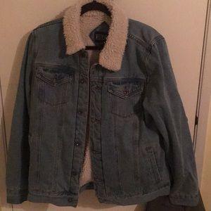 Other - RUDE Sherpa Denim Jacket